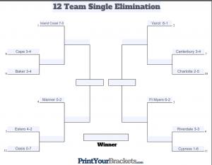 12 team single elimination